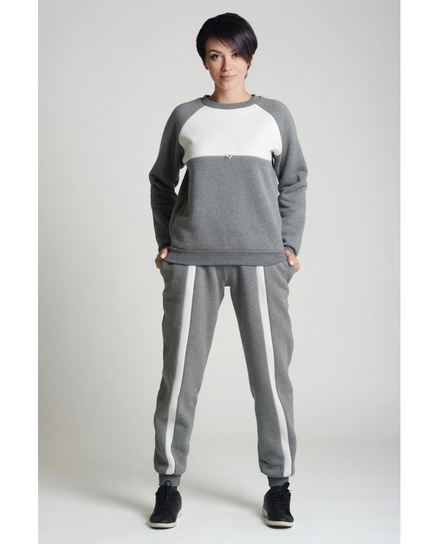 Спортивный костюм Авангард (серый меланж )