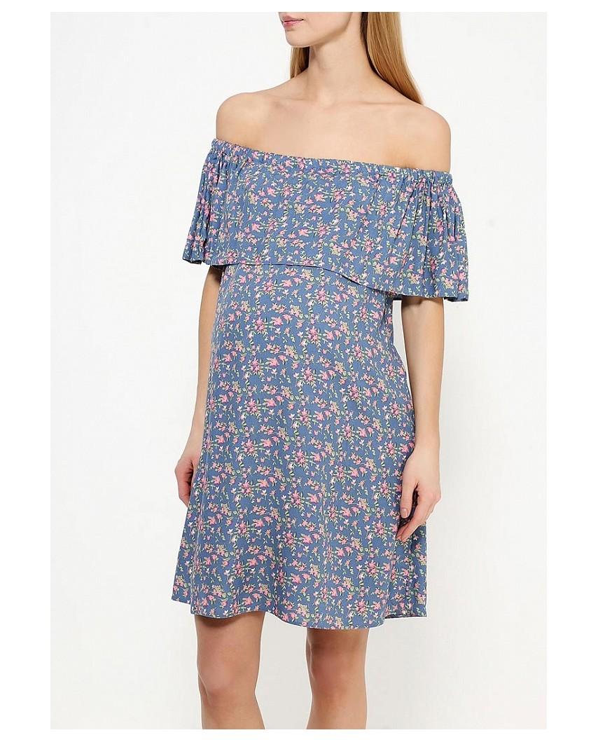 Платье для кормящих в цветочек