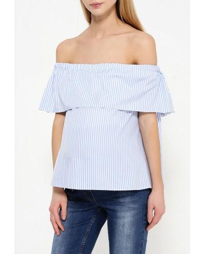 Блузка для кормления с воланом Полосатая