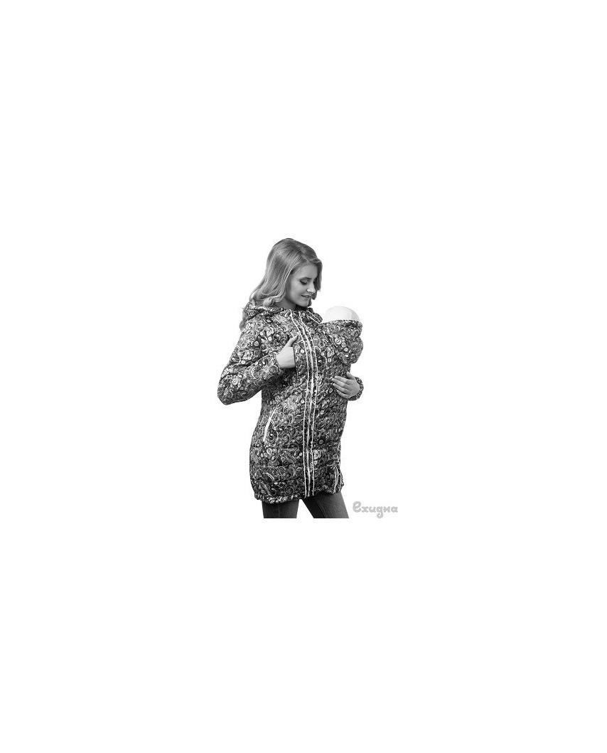 Слингокуртка Челси (ласточки/бежевый)